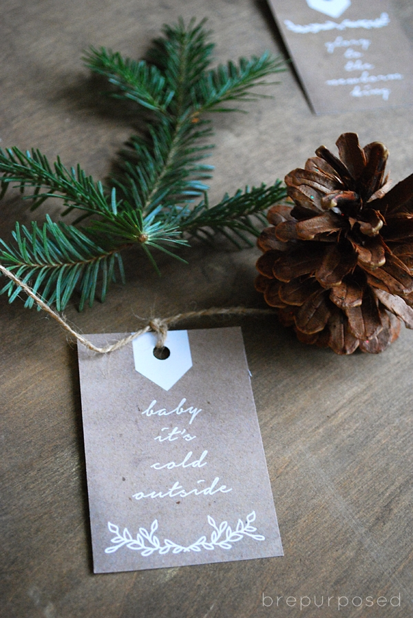 Free Neutral Christmas Gift Tags