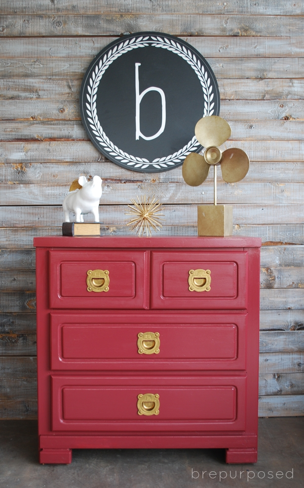 Marsala Furniture Makeover