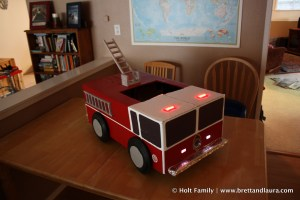 Ethan's Fire Engine Costume for Halloween
