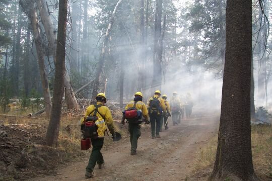 Lassen Hand Crew on the Hole Burn at Lassen Volcanic National Park