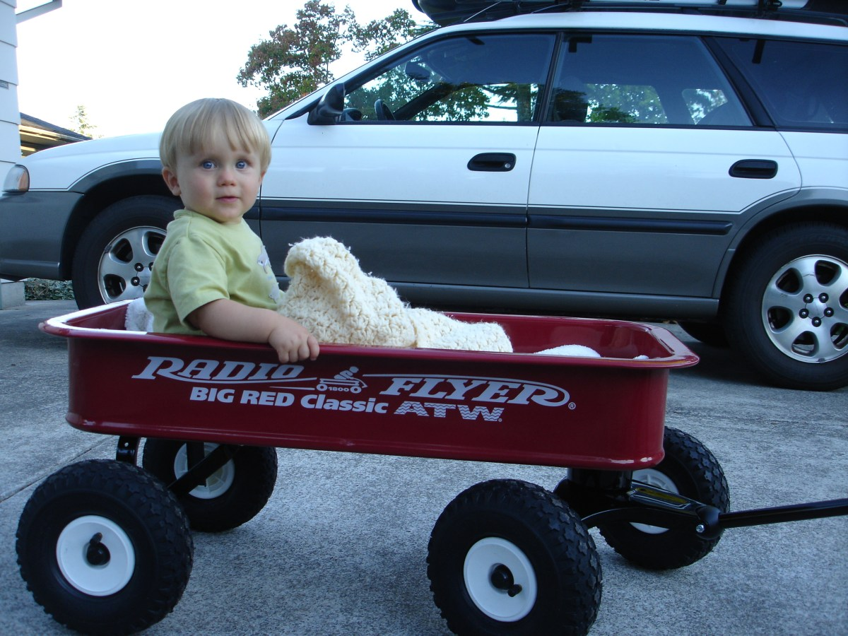 Ethan's First Radio Flyer Wagon Ride