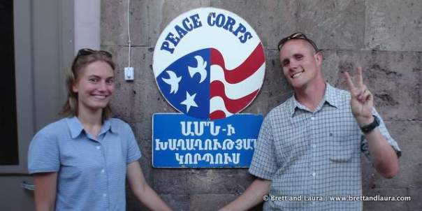 Brett and Laura Holt in the Peace Corps (Armenia)