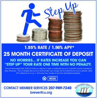 Certificate Rates - Brewer Federal Credit Union