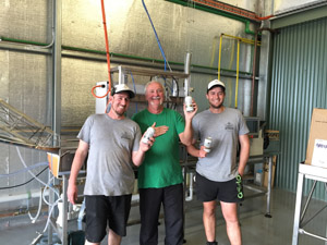 (L-R) Ross Terlick from Cheeky Monkey, Bill Rose (Cask) and Hamish Coates