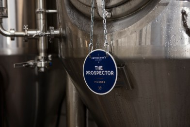 The Prospector Pilsner in tank