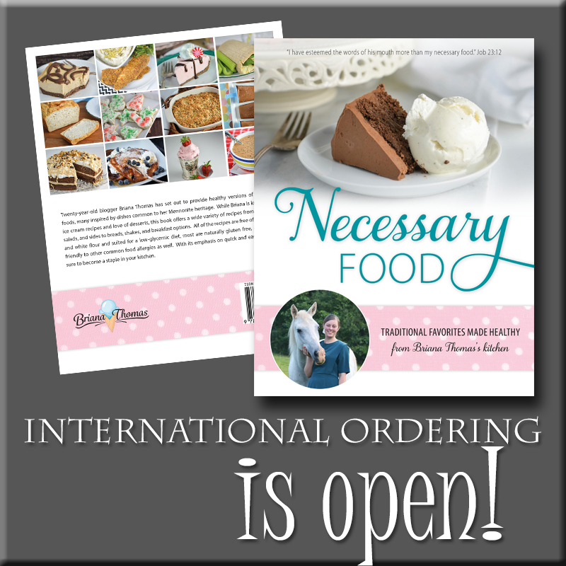International preorder is now open for Necessary Food!