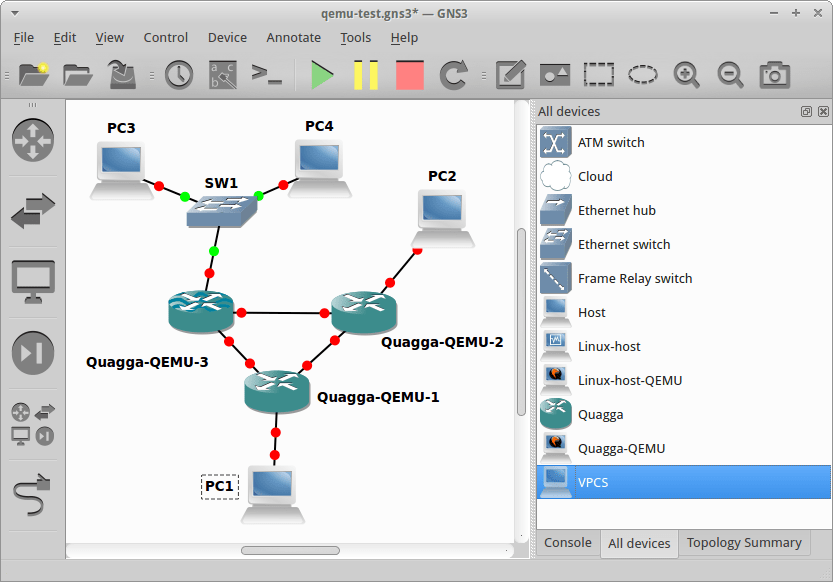 VPCS simulated PCs now appear as PCs on the topology window