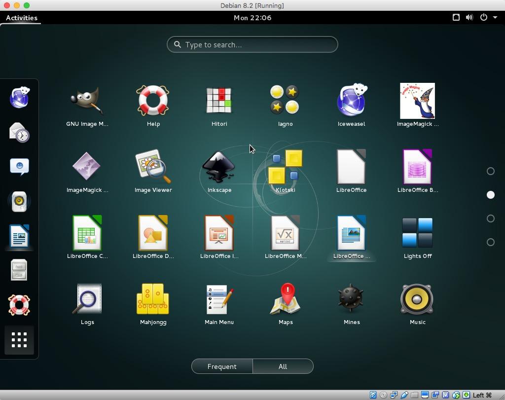 Debian 8.2 Running