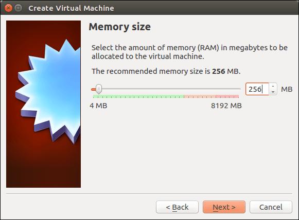Set memory size