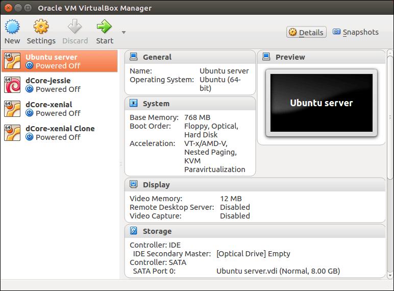 Virtual Machine *Ubuntu server* ready to use