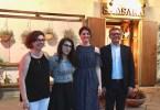BrianzAcque da sinistra a destra,  la vice preside dell' Istituto don Milani, Meda, Beatrice Murdaca; la vincitrice del contest Gloria Casagrande; l'insegnante di grafica Valentina Leuzzi e il presidente di BrianZacque , Enrico Boerci