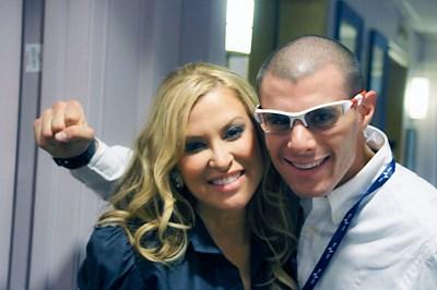 Anastacia con Andrea Catullè della International Artists Entertainment di Monza