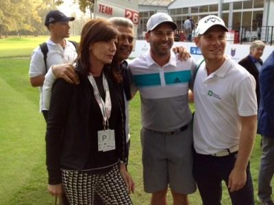 Lorenzo Scalise, primo a destra, con il grande Sergio Garcia