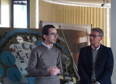 il presidente di BrianzAcque Enrico Boerci con il sindaco di Brugherio Marco Troiano