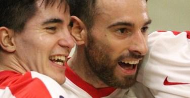La gioia degli uomini di Colamaria al secondo successo consecutivo nella serie A di hockey pista