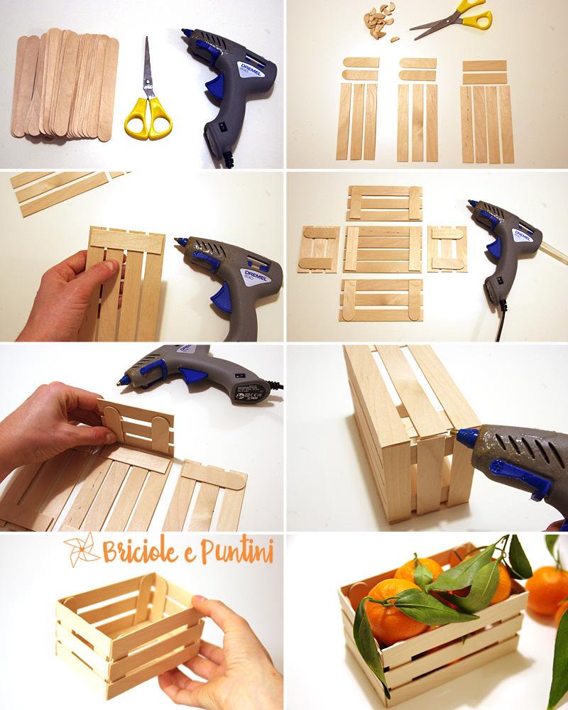 Mini cassette di legno fai da te con gli abbassalingua for Planimetrie semplici della casetta di legno