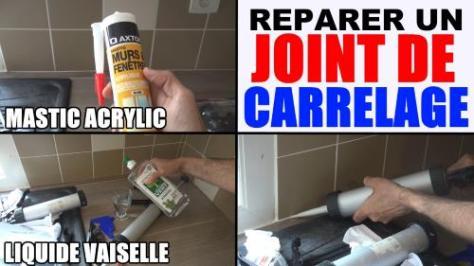 joint de carrelage mastic acrylique (réparation joint abîme ou faire)