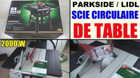 scie circulaire de table parkside ptk 2000 lidl Scheppach table saw Tischkreissäge