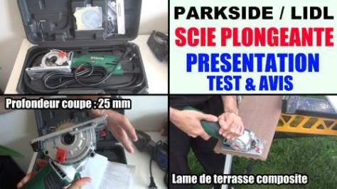scie plongeante parkside pts 500 a1 circulaire lidl