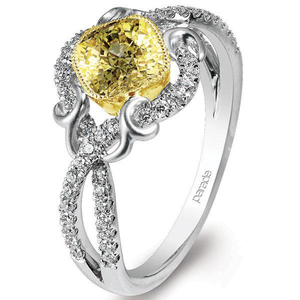 parade design yellow diamond ring