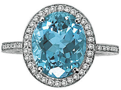 blue engagement ring