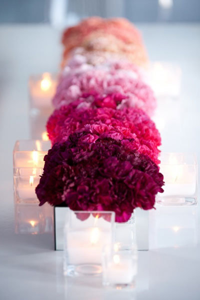 Trend We Love Ombre Wedding Ceremony Aisles