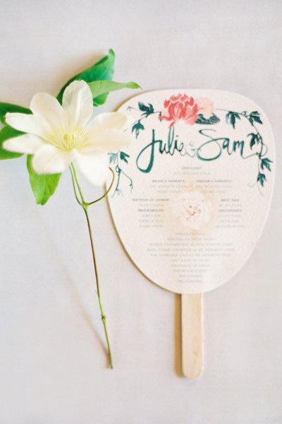 17 Imaginative Wedding Program Ideas