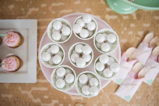 Pink, Mint and Gold Bridal Shower ideas