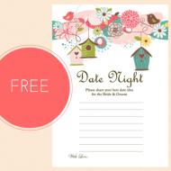 Free Printable Date Night Idea Cards