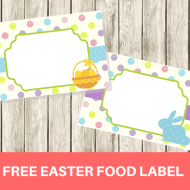 FREE Easter Holiday Food Labels