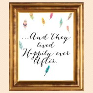 FREE Happily Ever After Signage