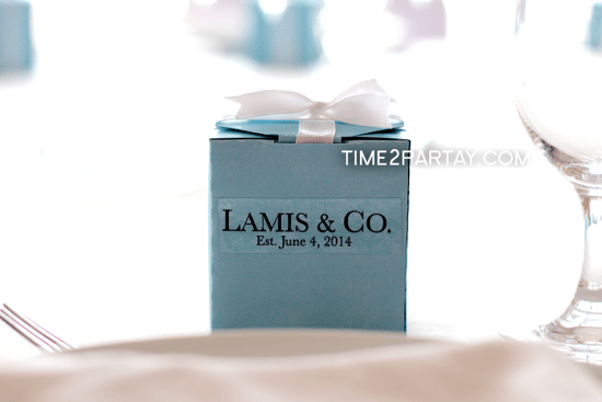 Tiffany Inspired Bridal Shower favor boxes