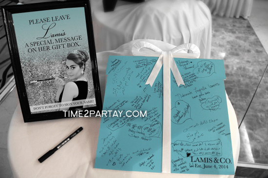Tiffany Inspired Bridal Shower leave a message
