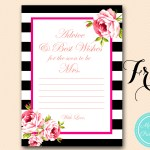 Free Gold Black Stripes Bridal Shower Games
