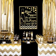 Gold-And-Black-Bridal-Shower-Treat-Table