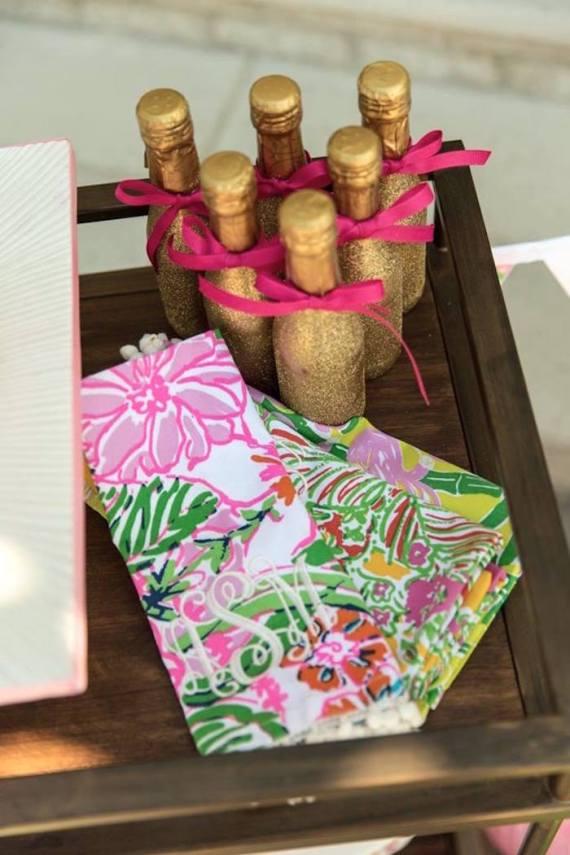 Tropical-Bridal-Shower-Mini-Champagne-Bottles