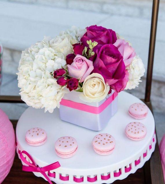 Tropical-Bridal-Shower-Pink-Macarons