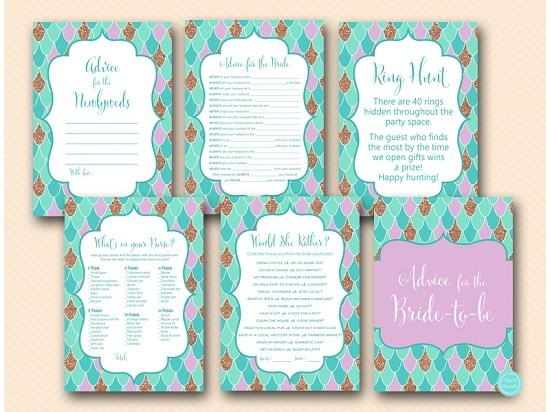 Mermaid Bridal Shower Ideas Bridal Shower Ideas Themes