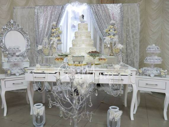 Silver-Wonderland-Wedding-Dessert-Buffet