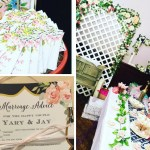 Pretty in Navy and Gold Floral Bridal Shower