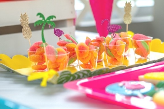 Pink-Tropical-Bridal-Shower-Candies