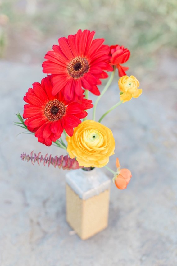 Colorful-Au-Natural-Bridal-Shower-Red-Yellow-Flowers