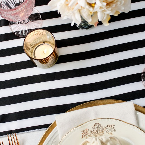 Striped Table Runner wedding table