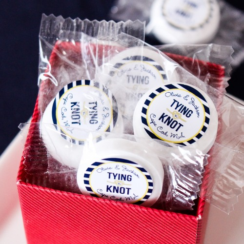 tying the knot wedding favor life savers