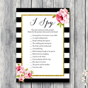 gold-floral-wedding-scavenger-hunt-black and gold wedding game