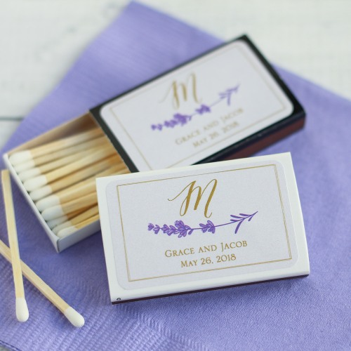 Lavender-Wedding-gift-ideas-matches