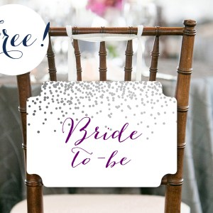 BS541 free Chair-Sign-8-5x11 bride to be chair banner bombs