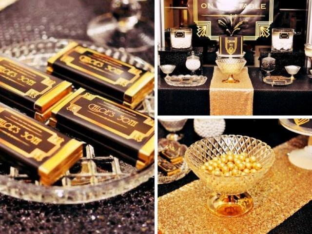 gatsby themed wedding dessert table ideas