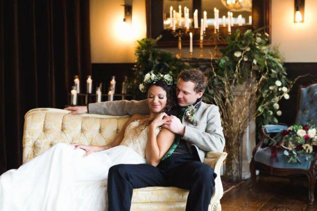 Romantic-Winter-Rustic-Wedding-Bride-Groom