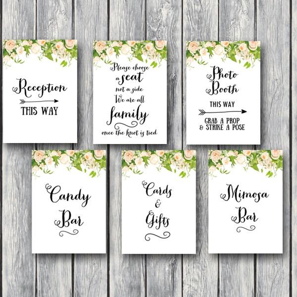 DOWNLOAD Peonies Wedding Sign Printable - Bride & Bows